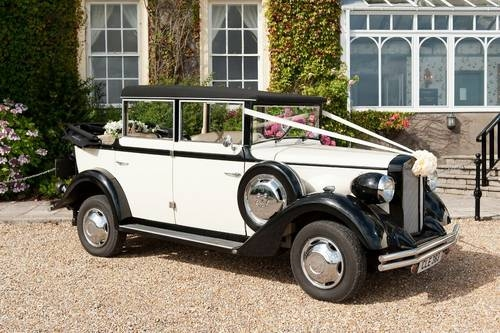 1920's classic with folding hood Regent wedding car
