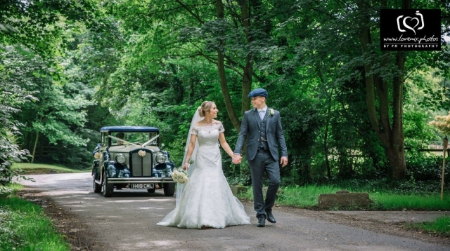 Select Limos 1920 style wedding & prom car Harriet in ivory and Blue