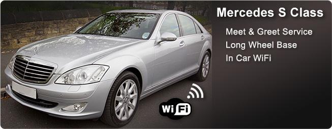 Select limos Mercedes Executive saloon car