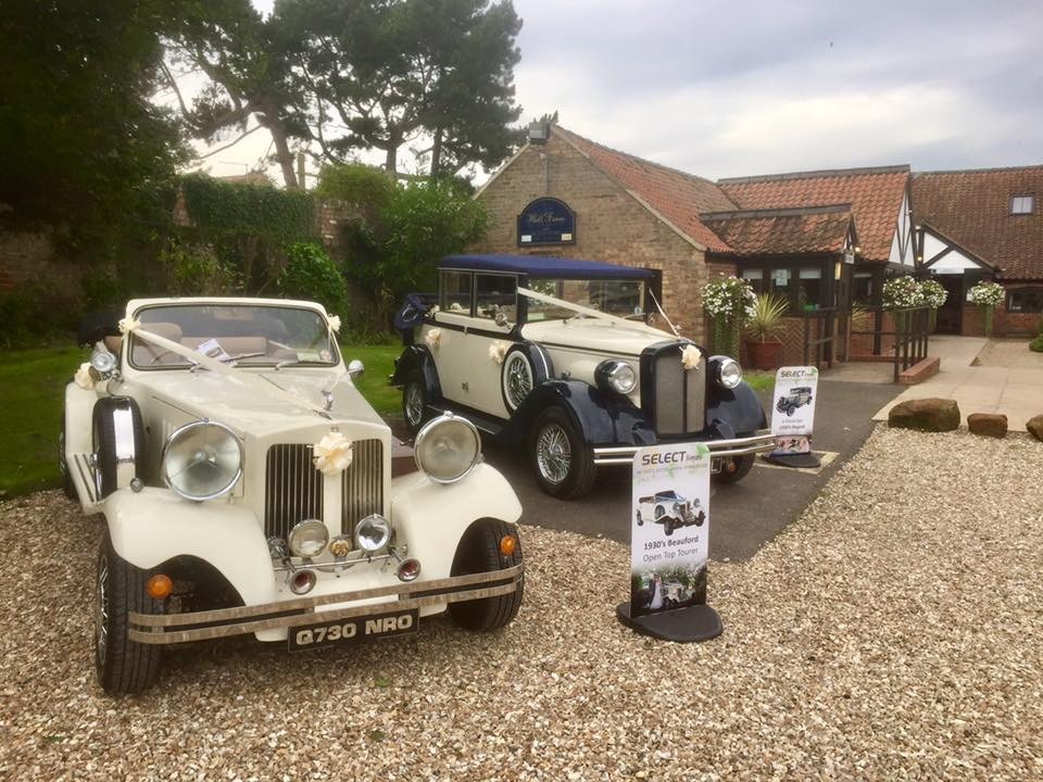 Select Limos Beauford and Regent wedding cars for up to 9 passengers
