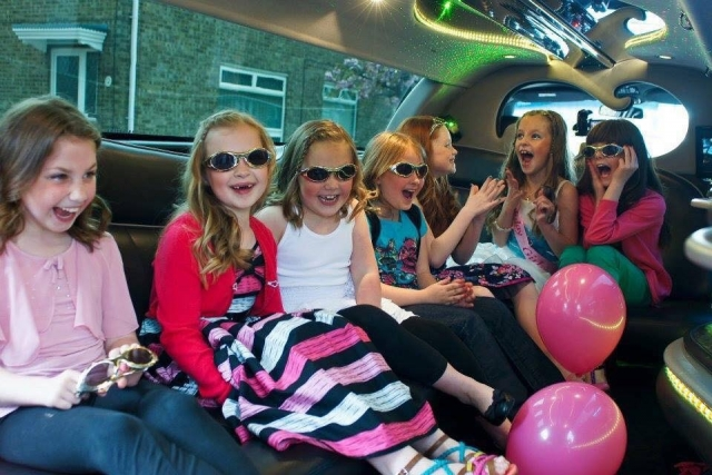 Children's limousine party