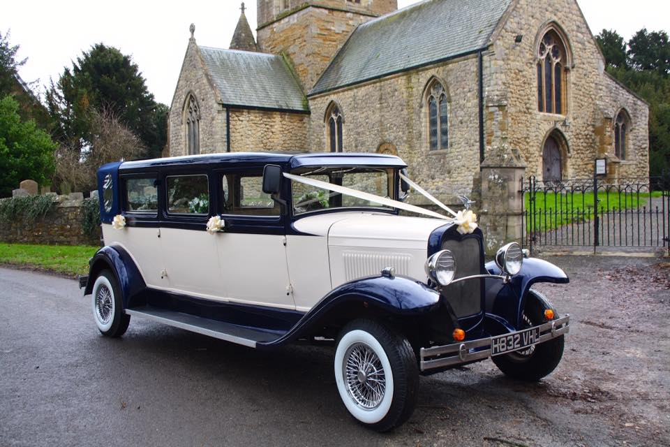 Select Limos 7 passenger classic 1930 style wedding car called Harvey