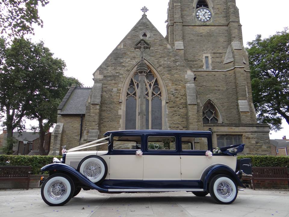 Select LimoS Harvey our 1930 style 7 passenger wedding car