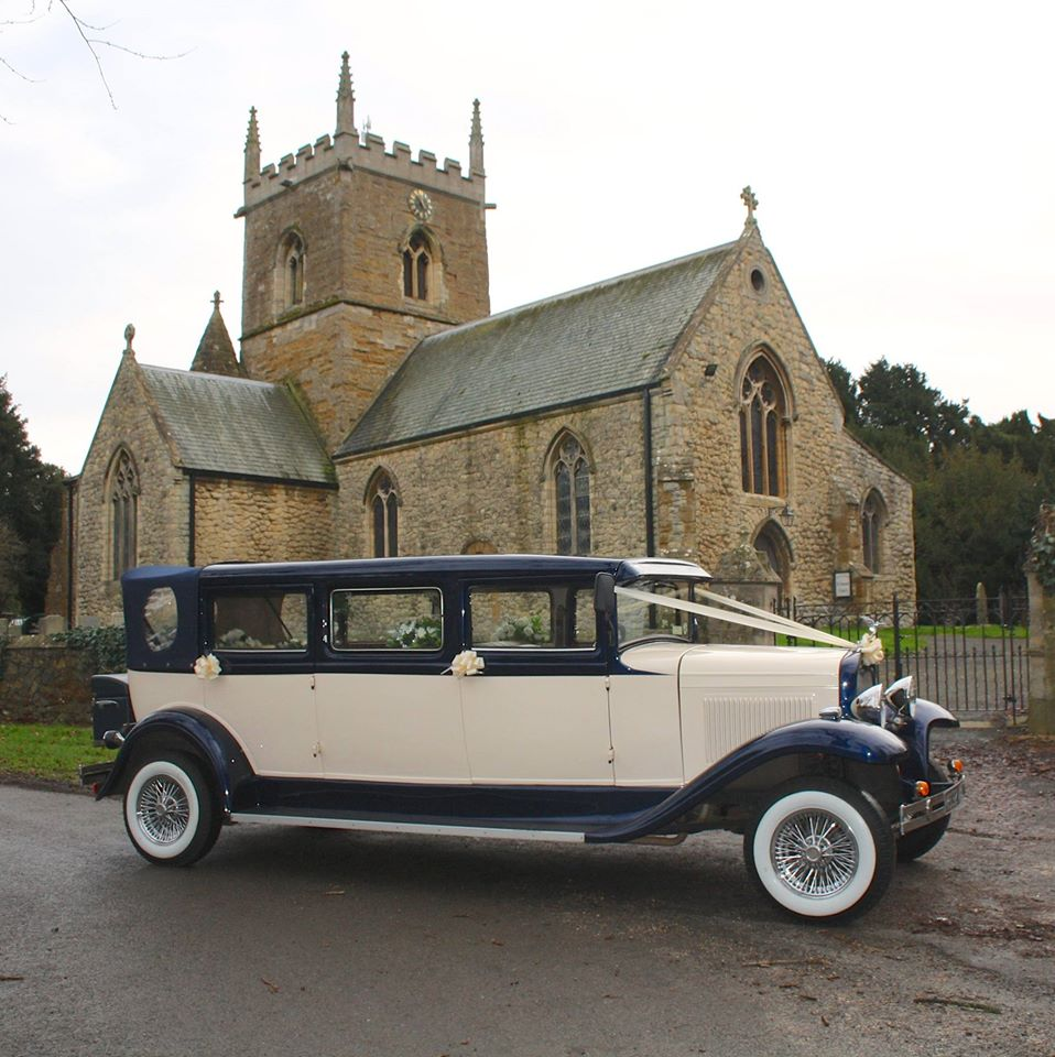 Select limos Harvey our 1930's style 7 passenger vintage style wedding car