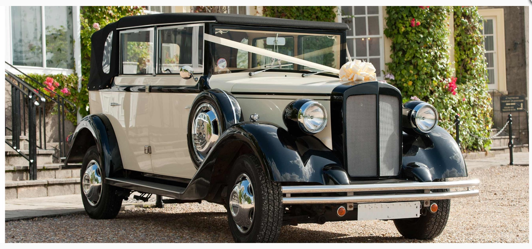 Select Limos Henrietta 1920 style. Regent wedding car for 6 passengers