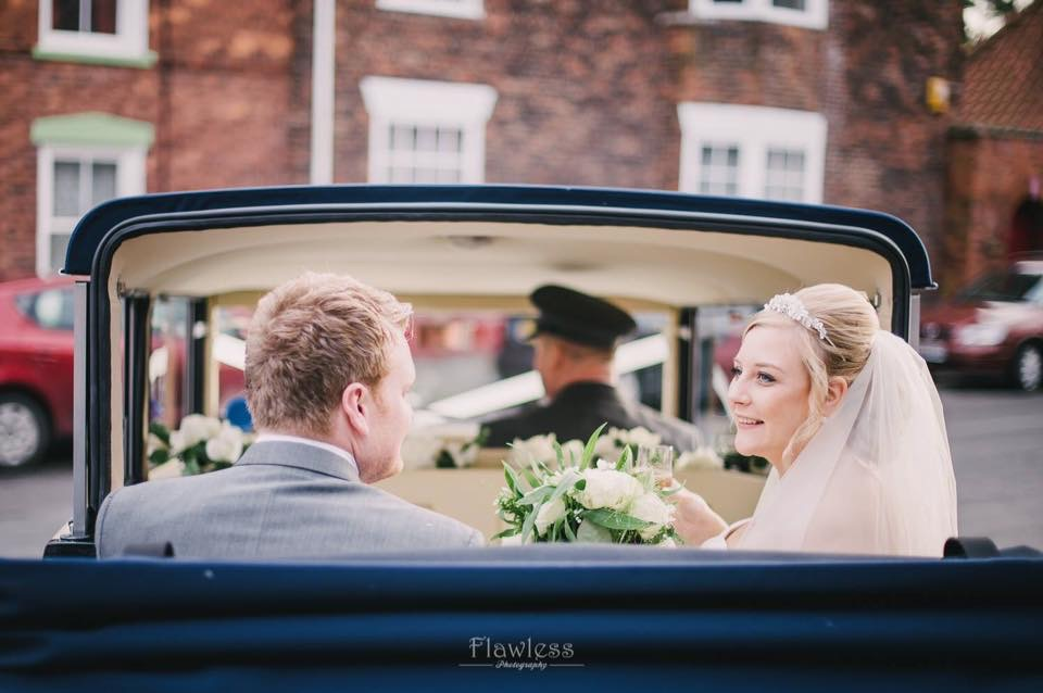 Select limos  Harriet our 1920's style open top wedding car