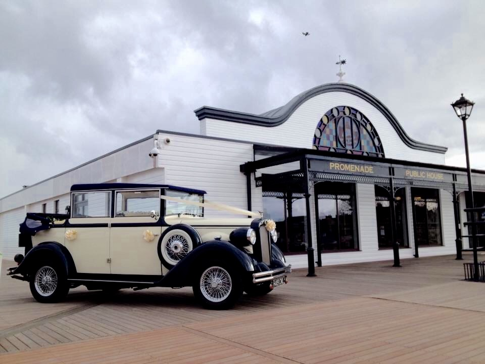 Harriet our 1920's style 6 passenger wedding car By select limos