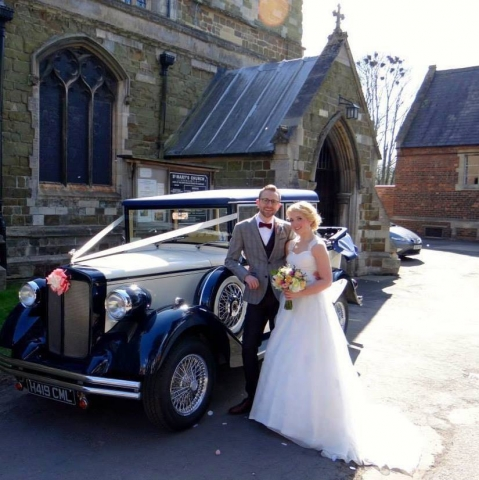Harriet our 1920's style Regent wedding & prom car